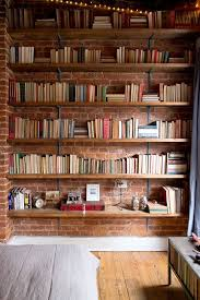 Dark Wood Bookshelves by Best 20 Exposed Brick Ideas On Pinterest Exposed Brick Kitchen