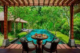 one bedroom river front pool villa in bali mandapa a ritz