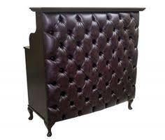 Tufted Salon Reception Desk Popular Black Velvet Tufted Curved Desk For Reception Office With