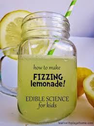 learn with play at home how to make fizzing lemonade edible