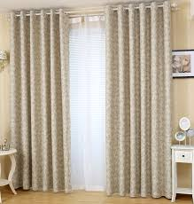 Light Block Curtains Botanical Printed Light Blocking Neutral Simple Curtains