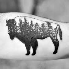 buffalo outline tattoo pictures to pin on pinterest tattooskid