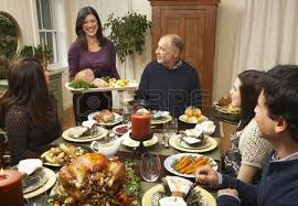 family thanksgiving dinner stock photo picture and royalty