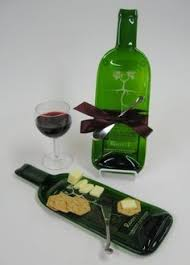 wine bottle cheese trays in vino vertias melted wine bottle cheese tray by mitchell