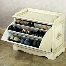 shoe storage white shoe storage bench seat kempton shoe bench oak