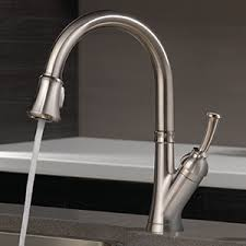 100 Pulldown Kitchen Faucet Sink by Shop Delta Savile Stainless 1 Handle Deck Mount Pull Down Kitchen