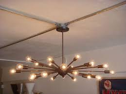 Atomic Lighting Rubbed Bronze Atomic Sputnik Starburst Light Fixture