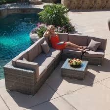 Outdoor Patio Wicker Furniture 7pc Outdoor Patio Rattan Wicker Furniture Aluminum Sectional Sofa