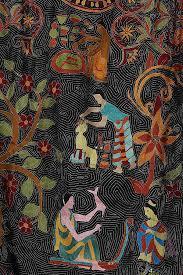 nakshi kantha rich black nakshi kantha stitch soft silk dupatta revived