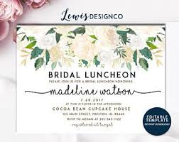wedding luncheon invitations bridal brunch etsy