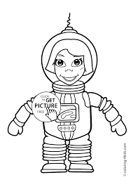 spaceman coloring pages for kids printable free coloing