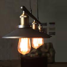 nordic vintage industrial celling lights adjustable iron hang