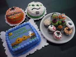 4 halloween cakes cupcakes dollhouse miniatures food deco holiday