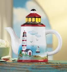 nautical coastal lighthouse theme ceramic decorative kitchen