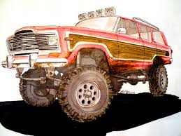 jeep wagoneer lifted amc jeep wagoneer drawing by prestonthecarartist on deviantart