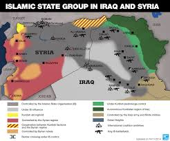 Syria On A Map by Map Areas Under Is Group Control In Iraq And Syria France 24