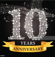 10th year wedding anniversary 10th anniversary vector getty images