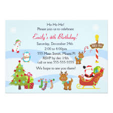kids christmas party invitations u0026 announcements zazzle co uk