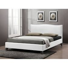 Sears Platform Bed Baxton Studio Contemporary Platform Bed Sears Battersby White