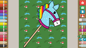 horse coloring game kids toddler learn colors magic coloring
