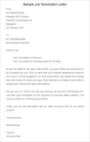 free termination letter template sample example format cover