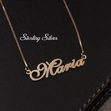personalized nameplate necklace name necklace gold name necklace cursive name necklace
