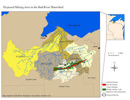 Wisconsin Trout Streams Map by Map Of Potential Gtac Mining Area Bad River Watershed Association
