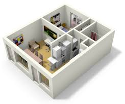 floor plan 3d house building design simple 3d tiny house floor plans for small family house plan