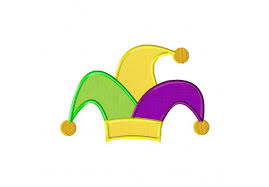mardi gras hat preview clipart sequin jester hat for mardi gras pet with party