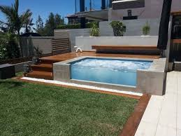 Patio That Turns Into Pool Modern Above Ground Pool Deck Ideas Wooden Sundeck Patio Design