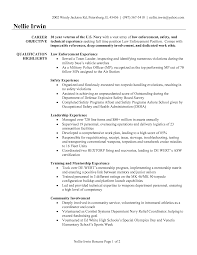 Military Resume Examples by Resume Objective Examples Law Enforcement