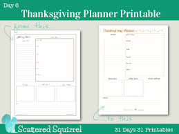 day 6 thanksgiving planner printable scattered squirrel