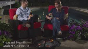 Pleasant Hearth Fire Pit - pleasant hearth ofw222rfn 1 grab n go round fire pit youtube