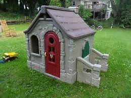 Step 2 Storybook Cottage Used by Step 2 Naturally Playful Playhouse Climber Swing Set Slide