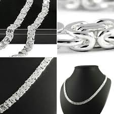 silver byzantine chain necklace images Men 39 s silver flat byzantine chain highly polished finished 6 80 jpg