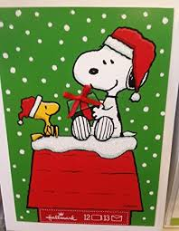 hallmark px2312 snoopy and woodstock gift giving