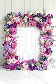 Wedding Flowers For Guests Floral Frame Table Plan Bridesmagazine Co Uk