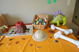 fossil or dinosaur birthday party ideas on a frugal budget