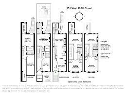 brownstone floor plans 351 west 120th street upper west side stribling associates