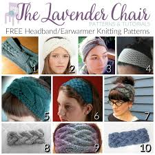 knitted headband pattern free headband earwarmer knitting patterns the lavender chair
