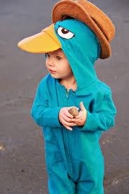 Phineas Halloween Costume Perry Platypus Agent Halloween Costume