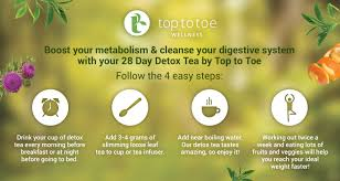 Top To Toe 28 Day Detox Tea 100 Natural U0026 Organic Top To Toe