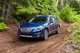 dark blue subaru outback subaru meets goal of 500 000 u s sales in 2014