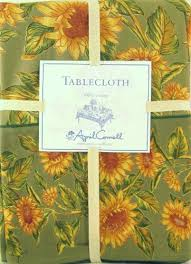 april cornell sunflower set 104 x 60 tablecloth 8 dinner napkins