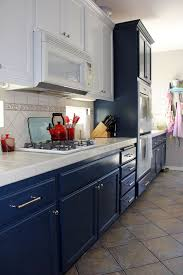 Painting Kitchen Cabinet Navy And White Kitchen Cabinet Painting Rearranged