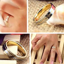 two tone wedding rings two tone tungsten wedding bands set for women and men gold