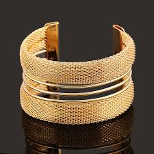 gold silver cuff bracelet images Fashion women 39 s vintage gold silver bangle punk cuff bracelet jpg
