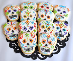 sugar skull cookies dia de los muertos pinterest sugar