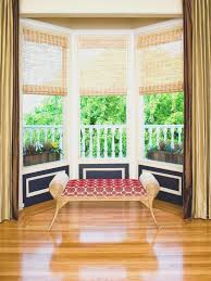 living room bay window inspiration for an eclectic open concept