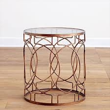 gold metal side table since i m obsessed with gold metal side tables but don t want to